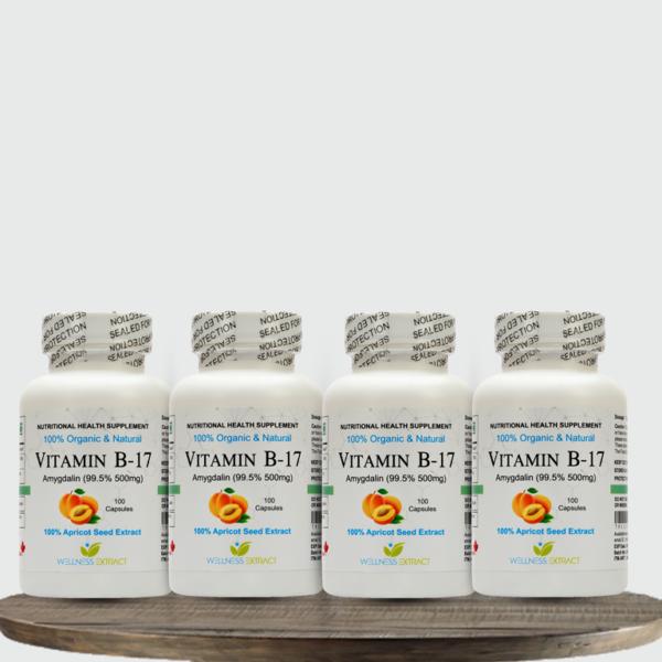 Vitamin B17 Amygdalin 500 mg (Pack of 4)